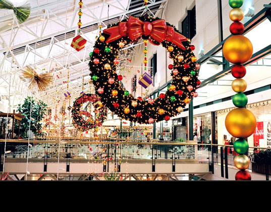always in season commercial holiday decorating seasonal decorations shopping centers office buildings - Houston Christmas Decorating Service
